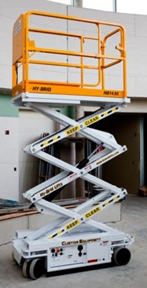 Scissor lift 14 ft. Hard surface