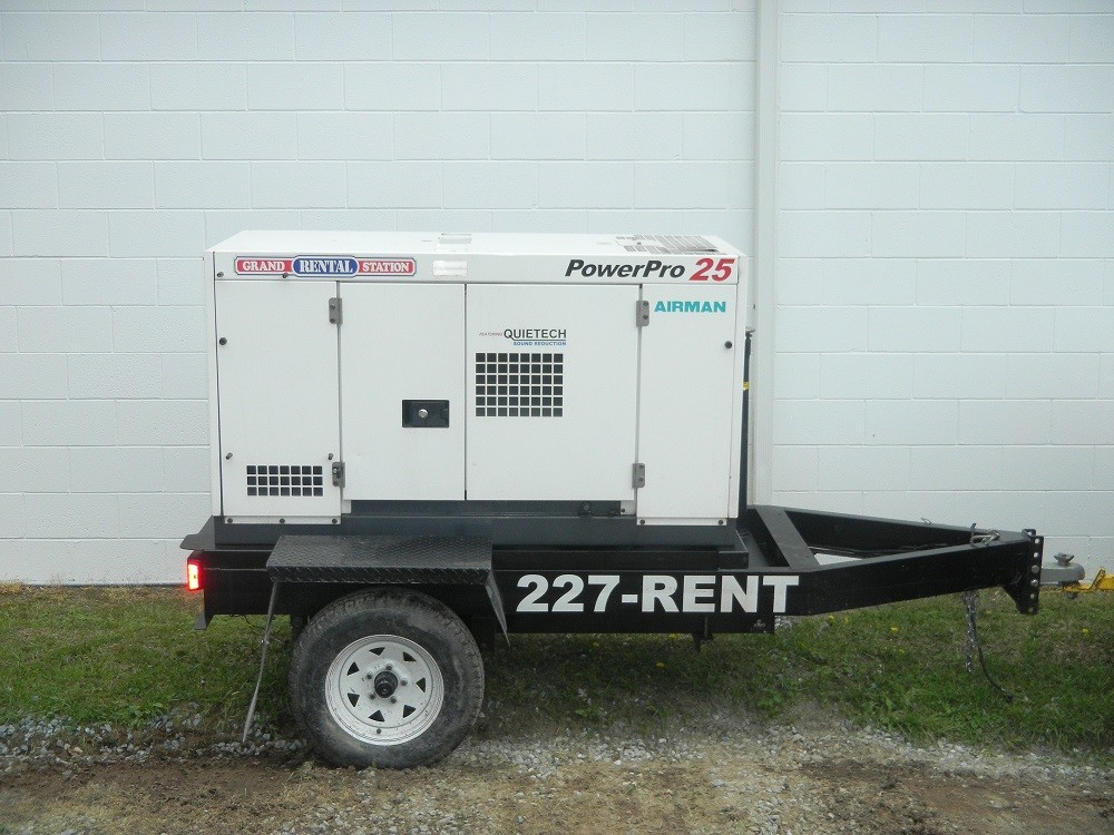 Generator, 25kw towable