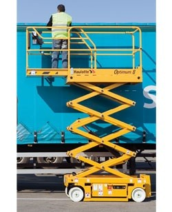 Scissor lift, 26 ft. Hard surface