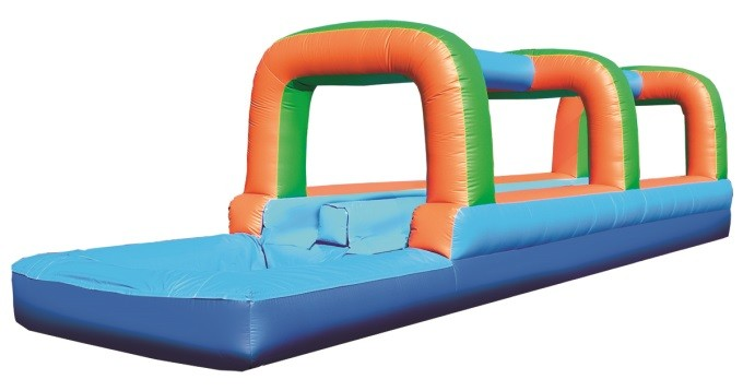 Run N Slide, 2 Lane water slide w/pool