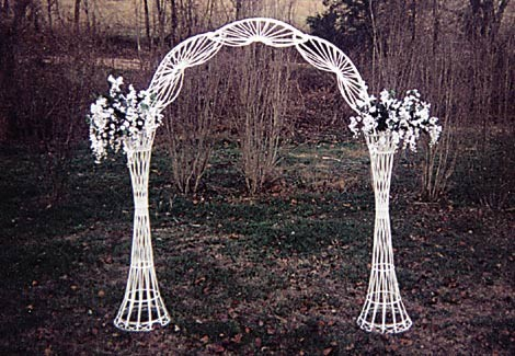 Arch,wedding white wicker