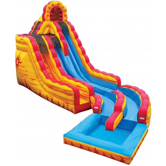 Fire & Ice 20' water slide with pool