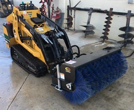 Loader, compact utility  hyd. broom attachment