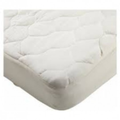 Mattress pad for crib or toddler bed