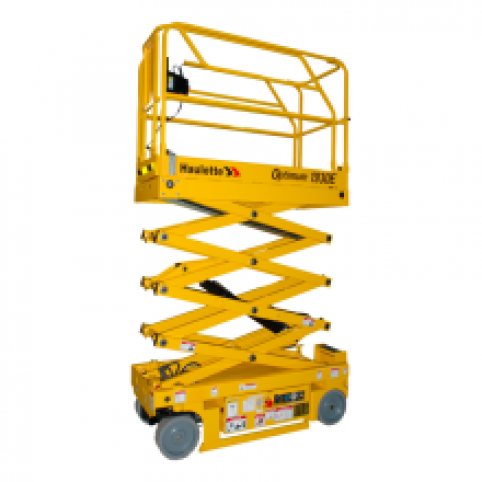 Scissor lift, 19 ft. Hard surface
