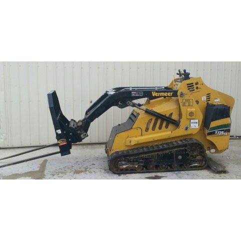 Loader, compact utility  fork attachment
