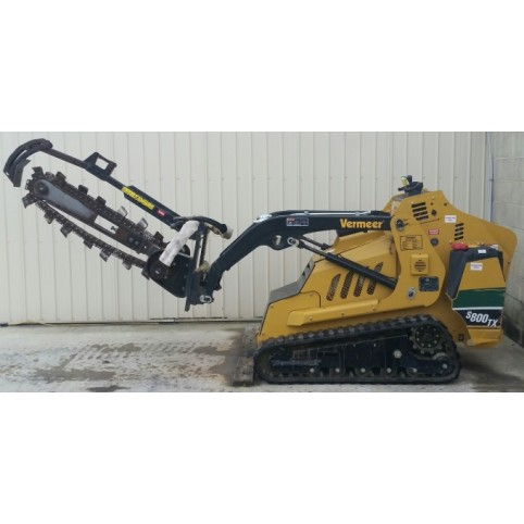 Loader, compact utility  Trencher attachment