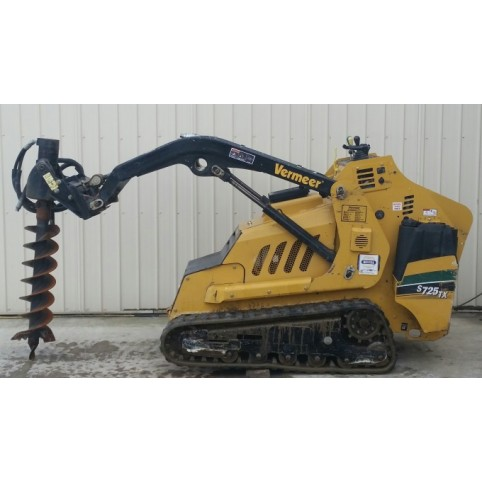 Loader, compact utility  auger attachment