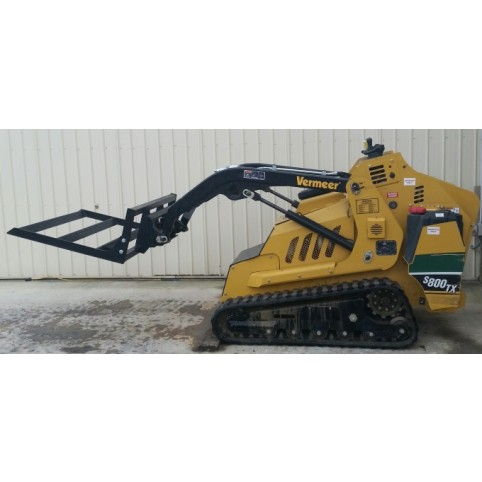 Loader, compact utility  Land leveler attachment