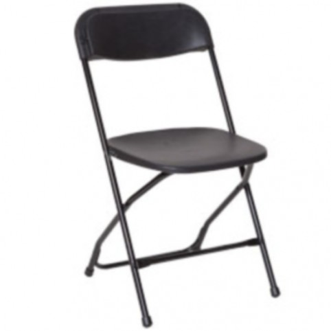 Chair, black folding