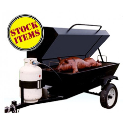 Grill, LP, towable roaster (includes 1 full tank)