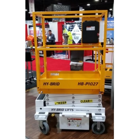 Push around scissor lift